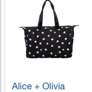 Alice and Olivia daisy duffel bag